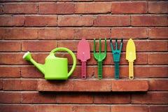 Ferramentas de jardinagem coloridas Imagem de Stock Royalty Free
