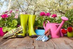Ferramentas de jardinagem exteriores Fotografia de Stock