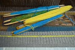Ferramentas de madeira do tear Fotografia de Stock Royalty Free