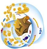 Ferramentas decorativas de Hanuka ilustração royalty free