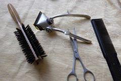 Ferramentas do barbeiro Imagem de Stock Royalty Free