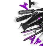 Ferramentas do cabeleireiro imagens de stock