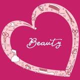 Ferramentas do cabeleireiro Sal?o de beleza de beleza manicure ilustração stock