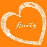 Ferramentas do cabeleireiro Sal?o de beleza de beleza manicure ilustração do vetor