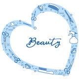 Ferramentas do cabeleireiro Sal?o de beleza de beleza manicure ilustração royalty free