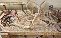 Ferramentas do carpinteiro Fotografia de Stock Royalty Free