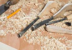 Ferramentas do carpinteiro Fotos de Stock Royalty Free