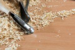 Ferramentas do carpinteiro Foto de Stock