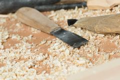 Ferramentas do carpinteiro Fotos de Stock