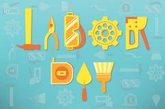 Ferramentas do Dia do Trabalhador ilustração royalty free