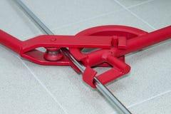 Ferramentas do dobrador do tubo ou do dobrador da tubulação Fotografia de Stock