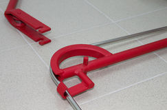 Ferramentas do dobrador do tubo ou do dobrador da tubulação Imagens de Stock Royalty Free