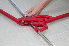 Ferramentas do dobrador do tubo ou do dobrador da tubulação Fotos de Stock Royalty Free