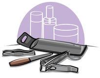 Ferramentas do Manicure ilustração stock