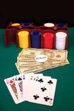 Ferramentas do póquer fotos de stock