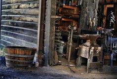Ferramentas do `s do ferreiro na loja Fotografia de Stock Royalty Free