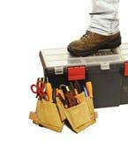 Ferramentas do trabalhador manual Fotografia de Stock Royalty Free
