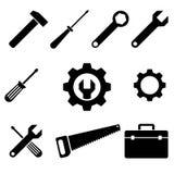 Ferramentas dos ícones Imagem de Stock
