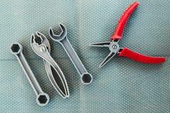 Ferramentas dos instrumentos do brinquedo imagens de stock royalty free