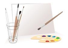 Ferramentas dos pintores. ilustração stock