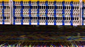 Sala e painel de controlo do servidor Imagem de Stock