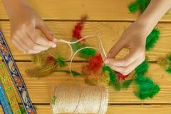 Ferramentas e materiais para criar a joia feito à mão e a joia a Imagem de Stock Royalty Free