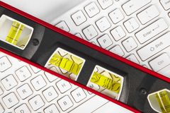 Ferramentas e teclado Foto de Stock Royalty Free