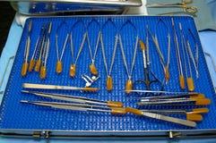 Ferramentas Microvascular da cirurgia fotografia de stock
