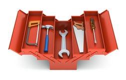 Ferramentas na caixa de ferramentas Fotografia de Stock Royalty Free