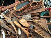 Ferramentas oxidadas ainda Fotos de Stock Royalty Free