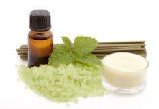 Ferramentas para a aromaterapia. Foto de Stock
