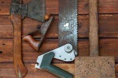 Ferramentas para o woodworking fotografia de stock
