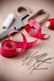 Ferramentas para sewing e handmade Foto de Stock Royalty Free