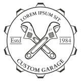 Ferramentas, serviço de reparações, etiquetas e projeto da mão da carpintaria do vintage Imagem de Stock Royalty Free