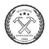 Ferramentas, serviço de reparações, etiquetas e projeto da mão da carpintaria do vintage Imagens de Stock