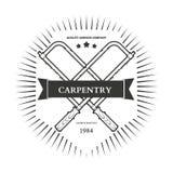 Ferramentas, serviço de reparações, etiquetas e projeto da mão da carpintaria do vintage Fotos de Stock