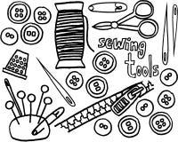 Ferramentas Sewing Fotografia de Stock