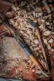 Ferramentas tradicionais do carpinteiro imagens de stock