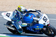 Ferran Casas pilot of Stock Extreme of the CEV Royalty Free Stock Image
