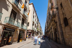 Ferran street at Barrio Gotico. Barcelona, Spain Royalty Free Stock Photos