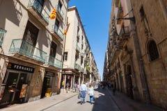 Ferran street at Barrio Gotico. Barcelona, Spain Royalty Free Stock Photos
