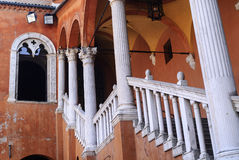 Ferrara - Ancient staircase Royalty Free Stock Photo