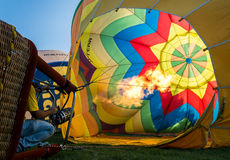 Ferrara Ballonsfestival 2014, Italië Stock Foto's