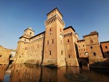 Ferrara Castello Estense stock images