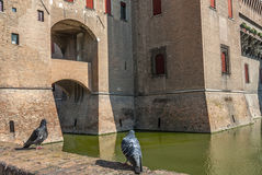 Ferrara - The castle Stock Photos