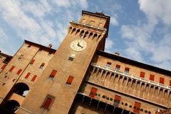 Ferrara castle in Italy Royalty Free Stock Photography