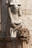 Ferrara - The cathedral facade, detail. Ferrara (Emilia-Romagna, Italy) - The cathedral facade, in romanesque style, detail royalty free stock photo