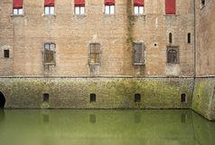 Ferrara, the Estense Castle detail. Color image Royalty Free Stock Images