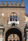 Ferrara - historische Gebäude Stockbilder