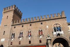 Ferrara - historische Gebäude Lizenzfreie Stockbilder